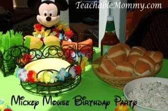 Mickey Mouse Clubhouse Luau Birthday Party