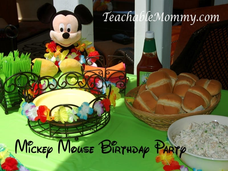 Astonishing Mickey Mouse Clubhouse Luau Birthday Party With Ashley And Company Funny Birthday Cards Online Hendilapandamsfinfo