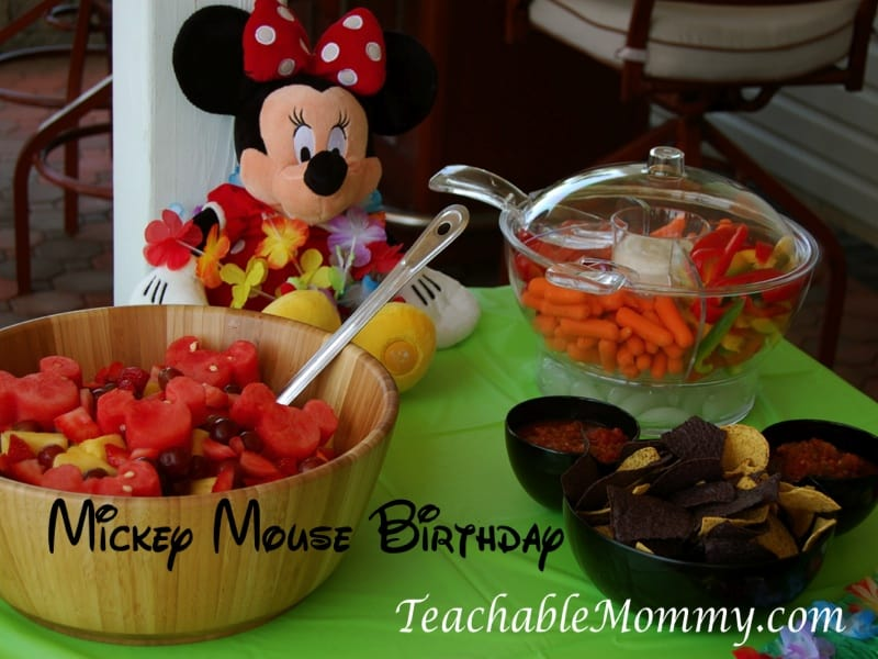 Mickey Mouse Birthday Party Luau
