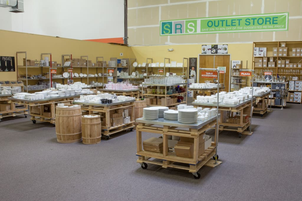 SRS outlet store, Discount tableware