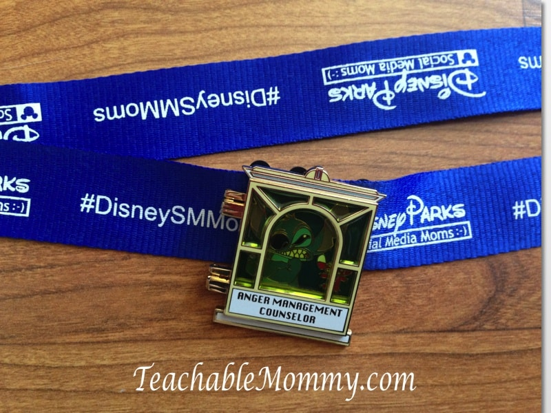 Disney Social media Moms on the road event, Stitch Pin