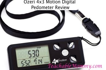 Get Fit with the Ozeri 4×3 Motion Digital Pedometer