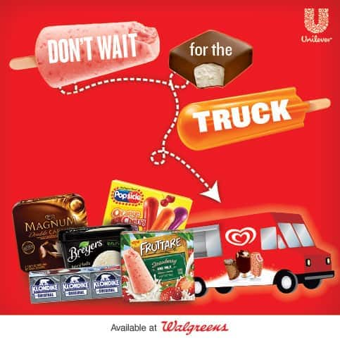 Walgreens, Unilever ice cream brands, #IceCreamRun