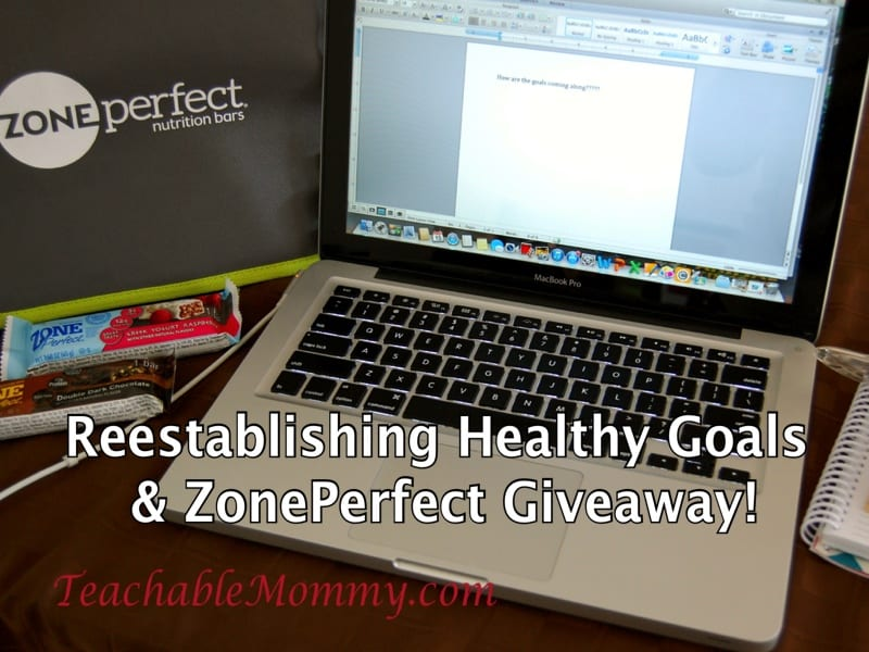 ZonePerfect giveaway, Reestablishing healthy goals