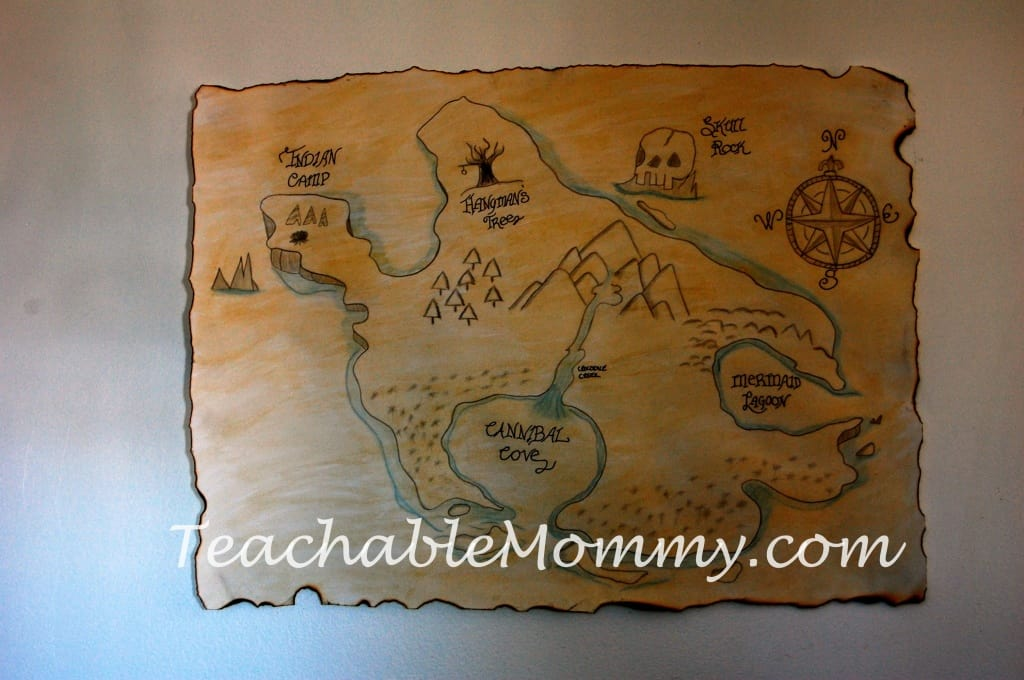 Jake and the Neverland Pirates Birthday Party, Jake Birthday Party, Pirate Birthday Party, Map of Neverland