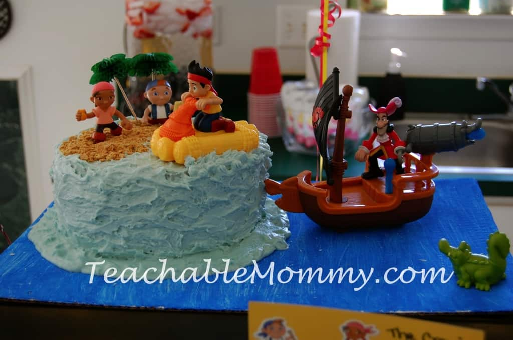 Jake and the Neverland Pirates Birthday Party, Jake Birthday Party, Pirate Birthday Party, Pirate Food, Jake and The Neverland Pirates Party Cake