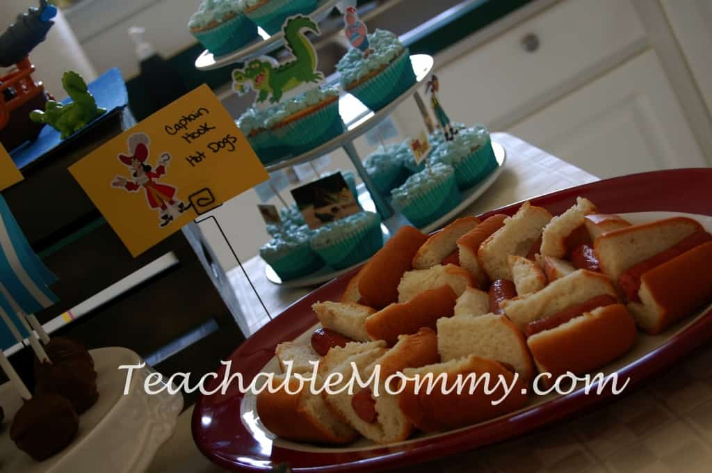 Jake and the Neverland Pirates Birthday Party, Jake Birthday Party, Pirate Birthday Party, Pirate Food, Jake and The Neverland Pirates Party Food
