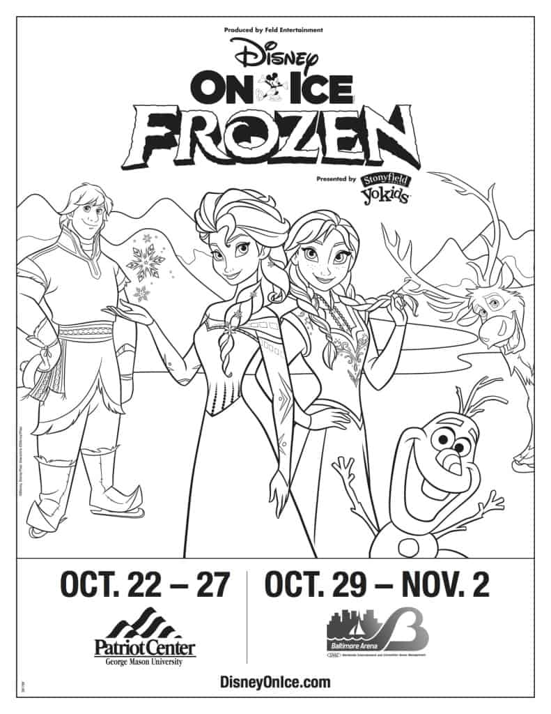 Disney On Ice Presents Frozen! Win Frozen On Ice Tickets, Frozen Coloring Sheet, Frozen on Ice Coloring Sheet