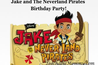 Jake and The Neverland Pirates Birthday Party!