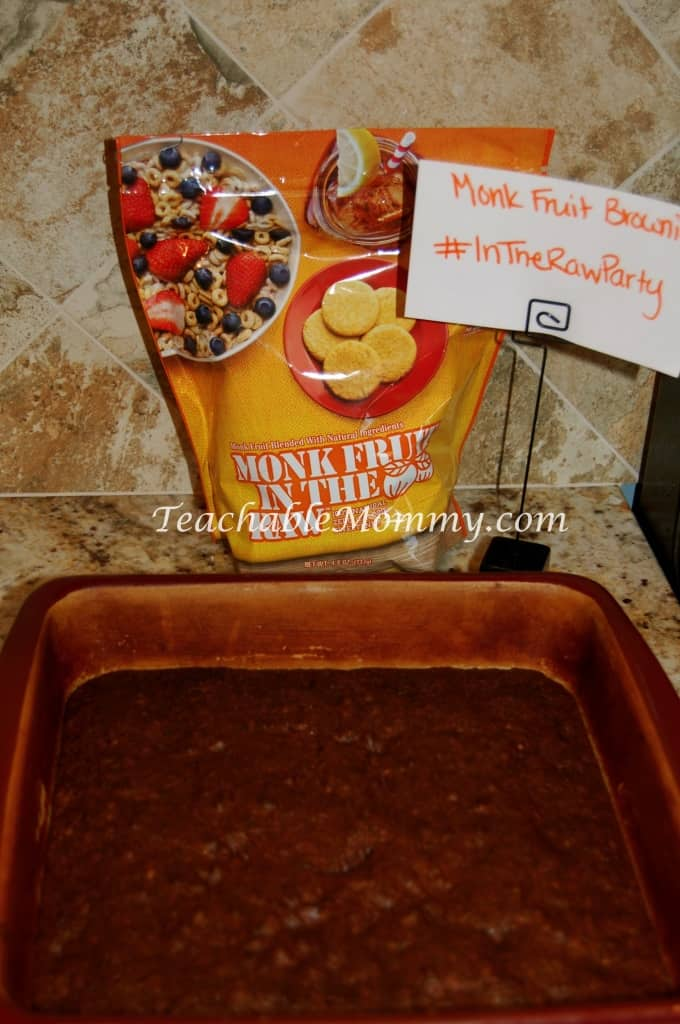 Monk Monk Fruit In The Raw, natural no calorie sweetener, MommyParty, #InTheRawParty, Brownie Recipe