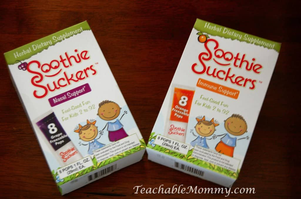 Soothie Suckers herbal supplements for kids