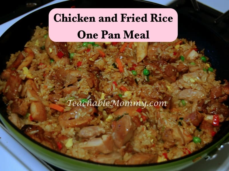 Chicken and Fried Rice One Pan Meal, Fried Rice and Chicken recipe, Easy Chicken and Fried Rice