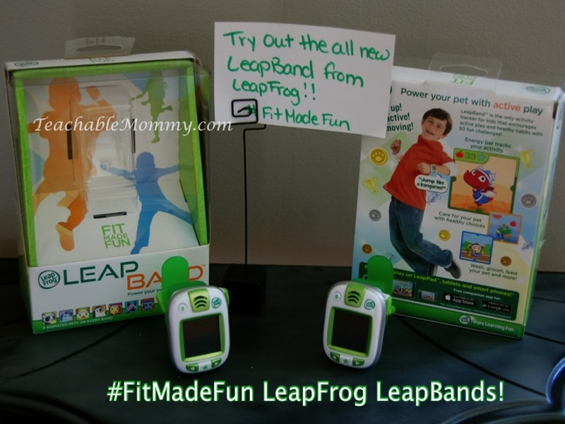 #FitMadeFun LeapFrog LeapBand, exercise for kids, fitness for kids