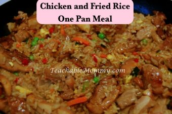One Skillet Meal- Chicken and Fried Rice in Ozeri Green Earth Pan