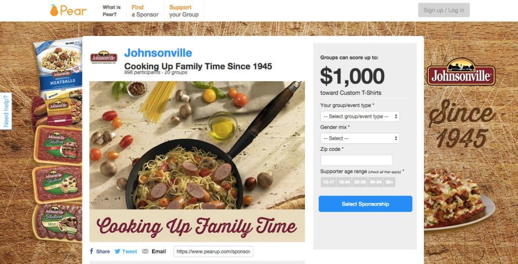 Johnsonville Pear sponsorship, #JohnsonvilleSponsors
