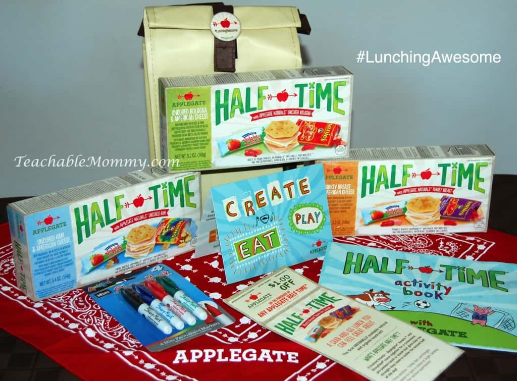 Half Time Giveaway. Applegate Giveaway, #LunchingAwesome, Easy Kid Lunches