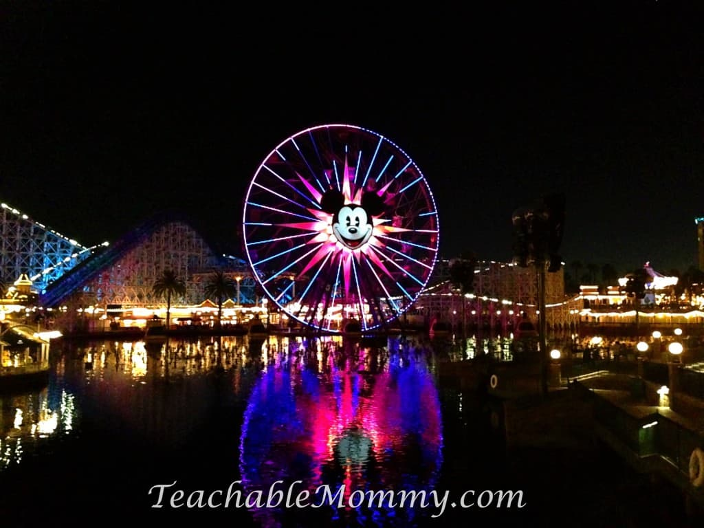 Disneyland, Mickey Ferris Wheel, Paradise Pier, Do you have to plan everything for a Disney Vacation? Disney Vacation Planning, How not to stress planning a Disney World Vacation