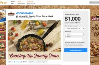Get Your Team or Event Sponsored by Johnsonville at Pear!