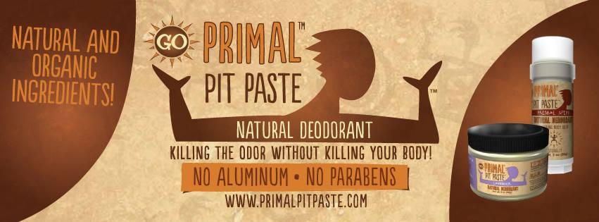 Primal Pit Paste, Deodorant Cleanse, Natural Deodorant Giveaway