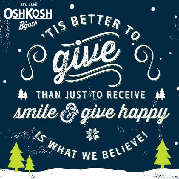 OshKosh B'gosh coupon, #GiveHappy with OshKosh B'gosh
