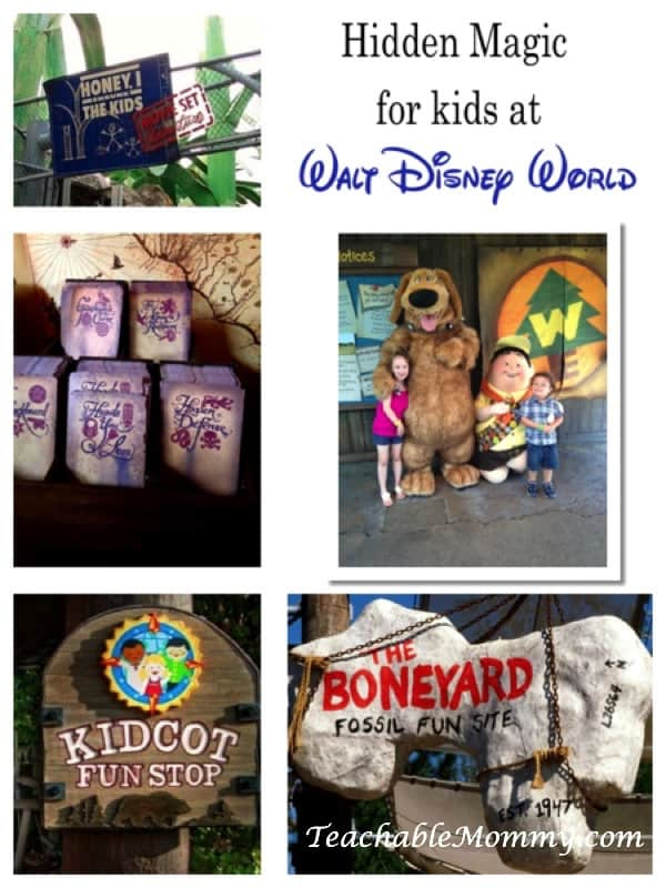 Hidden Magic for Kids at Walt Disney World, Hands on kid activities in Disney, Free Activities for kids at Disney World, Kidcot, Sorcerers of the Magic Kingdom, Wilderness Explorers, Pirate fun at Disney, Boneyard, Honey I Shrunk the kids playground, playgrounds at Disney, #DisneyKids