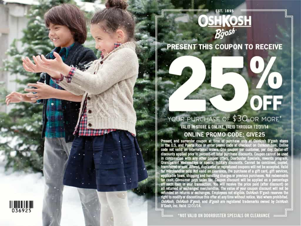 OshKosh B'gosh coupon, #GiveHappy with OshKosh B'gosh
