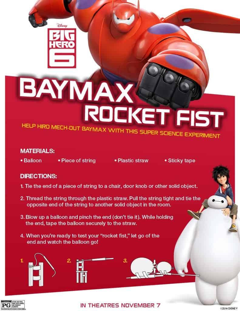 Make your own Baymax Rocket Fist, Big Hero 6 birthday activities, Big Hero 6 free printables