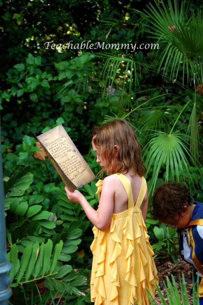 2.Pirate Treasure Map Hunt in Adventureland Enlistement Quarters , Walt Disney World free activities, Pirate Adventures at Walt Disney World, Free Activities for Kids at Disney