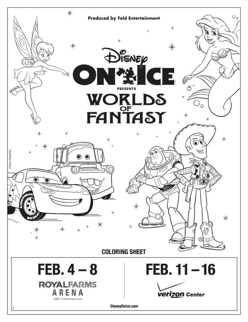 Disney on Ice presents Worlds of Fantasy coloring sheet #DisneyOnIce