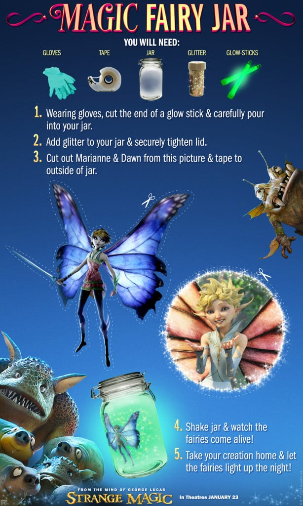 Magic Fairy Jar, Strange Magic Free Printables, Strange Magic Birthday Party