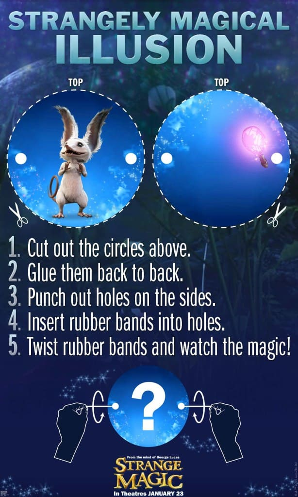 Strangely Magical Illusions,   Strange Magic Free Printables, Strange Magic Birthday Party