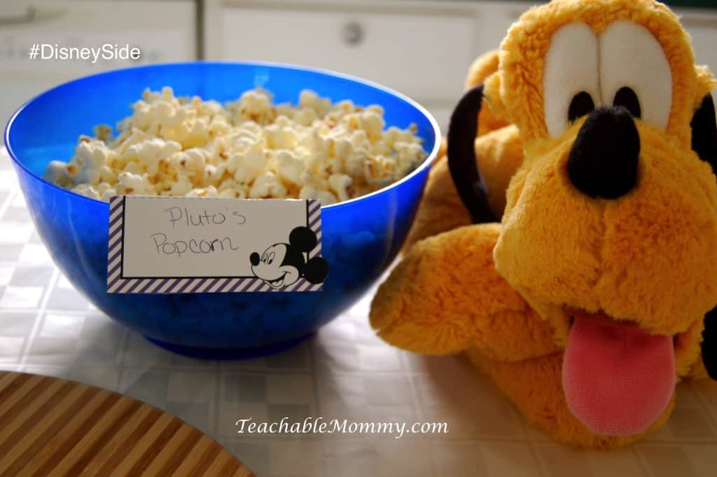 #DisneySide @ Home Party, Disney Party ideas, Mickey Mouse party food