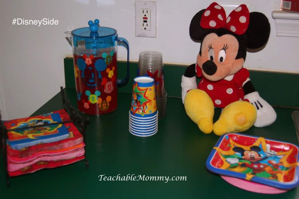 #DisneySide @ Home Party, Disney Party ideas, Mickey Mouse party