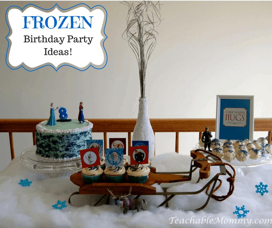 Frozen Birthday Party ideas, Frozen Birthday Crafts, Frozen Games, Frozen Free Printables, Frozen Party Decorations, Frozen Party, Frozen Party food, Frozen Birthday Cake, Frozen Cupcakes, Frozen Party Desserts