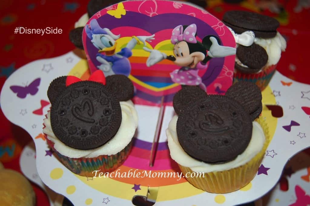 #DisneySide @ Home Party, Disney Party ideas, Mickey Mouse cupcakes