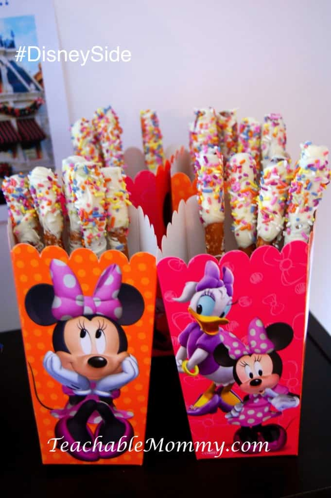 #DisneySide @ Home Party, Disney Party ideas, Disney Party Food, Disney Parks inspired food