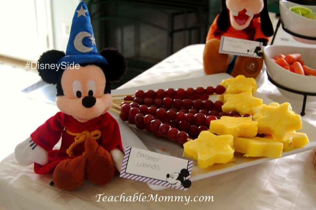#DisneySide @ Home Party, Disney Party ideas, Mickey Party Ideas, Mickey Mouse party food