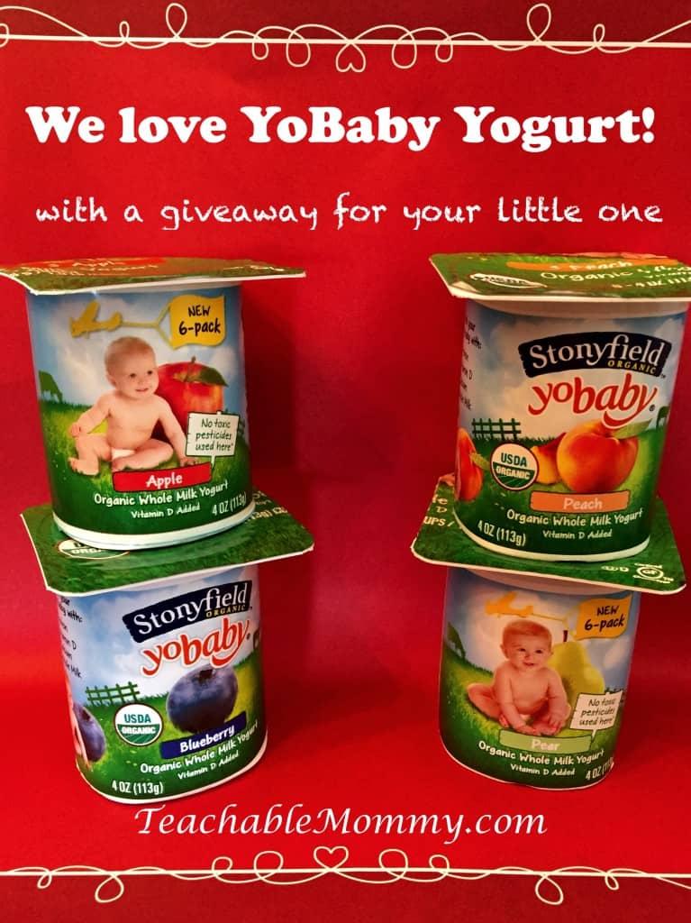 Stonyfield Yobaby giveaway, Stonyfield Yobaby Organic Yogurt, #StonyfieldBlogger