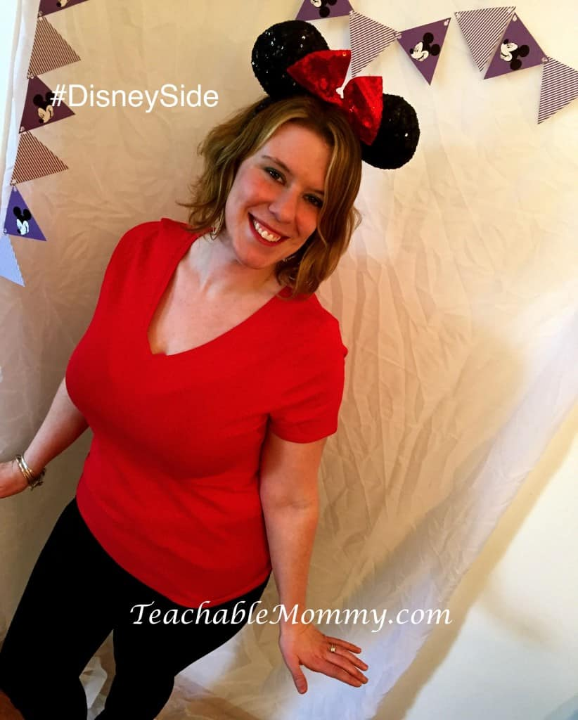 #DisneySide @ Home Celebration, Disney Photo Booth , Disney Bound Minnie Mouse