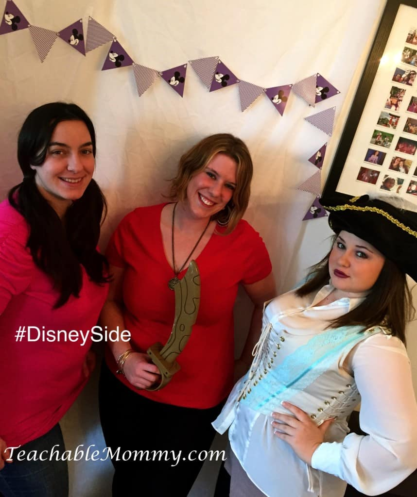 #DisneySide @ Home Celebration, Disney Photo Booth , Disney Bound Izzy Captain Hook Pirate
