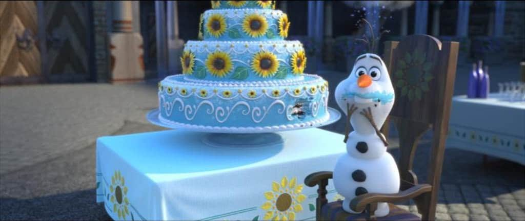 Frozen Fever Images, #FrozenFever,  Olaf birthday cake,