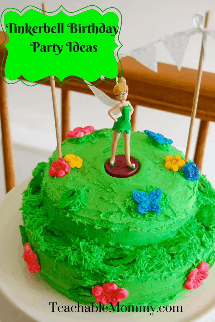 Tinkerbell Birthday Party, Tinkerbell Party, Tinkerbell party food, Tinkerbell Decorations, Pixie Hollow party, Tinkerbell Cake