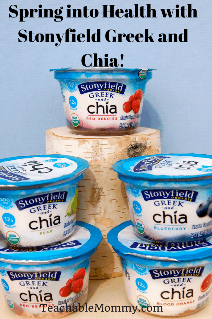 Spring into Health with Stonyfield Greek and Chia, Greek and Chia yogurt, organic chia yogurt, #StonyfieldBlogger