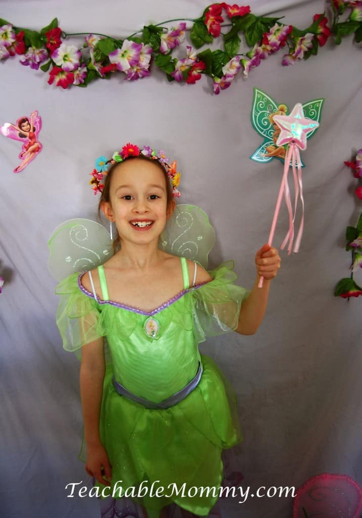 Tinker bell birthday party, Tinkerbell photobooth