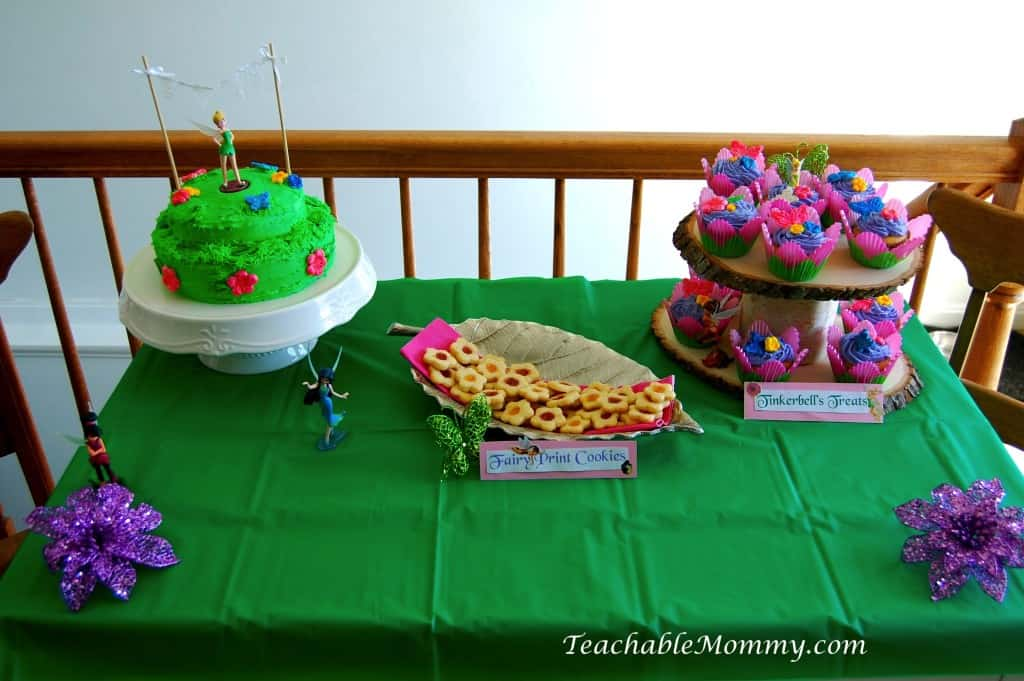 Tinkerbell Birthday Party, Tinkerbell Party, Tinkerbell party food, Tinkerbell Decorations, Pixie Hollow party, Tinkerbell desserts