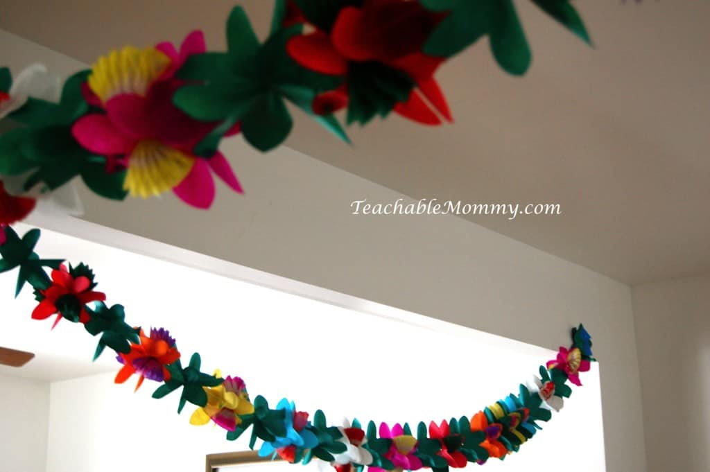 Tinkerbell Birthday Party, Tinkerbell Party, Tinkerbell party food, Tinkerbell Decorations, Pixie Hollow party, oriental trading flower garland