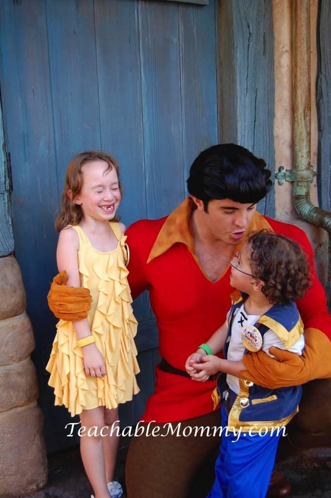 Signs you are a big Disney Kid, #DisneySide #DisneySMMoms, #DisneyKids, Gaston at Disney