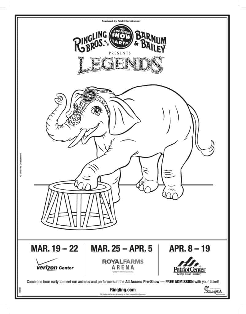 Elephant Coloring Sheet