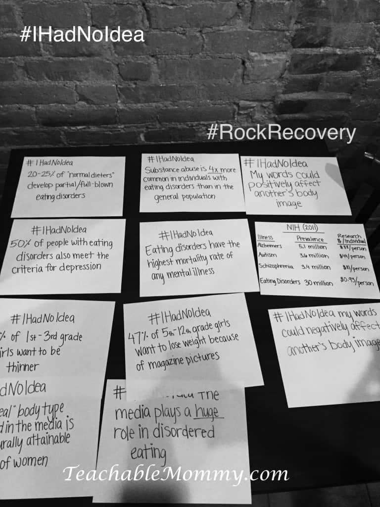 Rock Recovery, Healthy Body Image, Body Image Disorder, Help for Eating Disorders, #IHadNoIdea