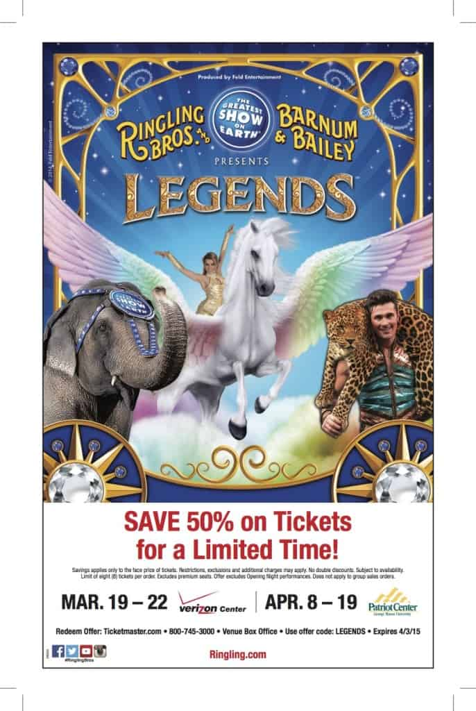 Ringling Bros. Washington DC area Patriot Center discount tickets